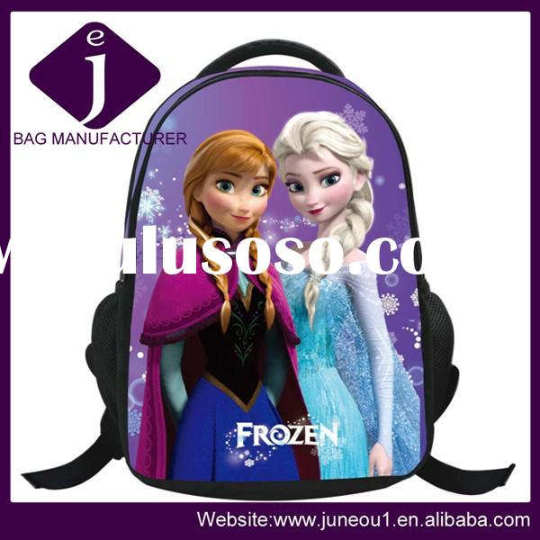 Hot sale frozen elsa anna school bags backpacks kids school bags for girls china wholesale jeb021