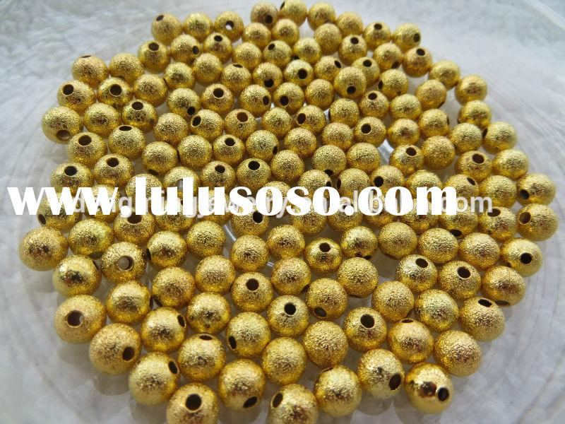 Look!! Cheapest Shiny Metal Stardust Beads! Bulk Price Stardust Spacer Beads for large beads jewelry