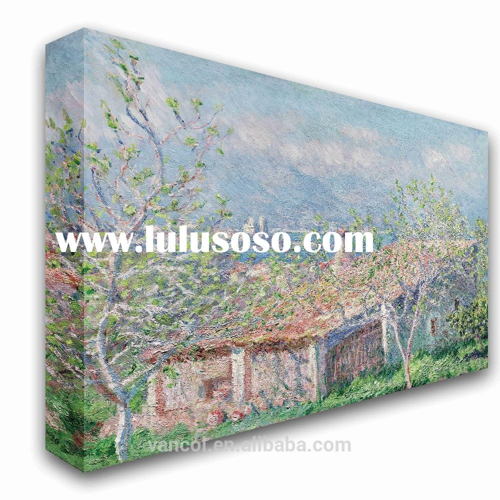 Modern famous scenery canvas oil painting for decor, canvas painting