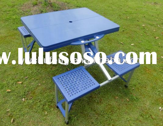 Outdoor Portable Folding Camping Picnic Table with 4 Chairs