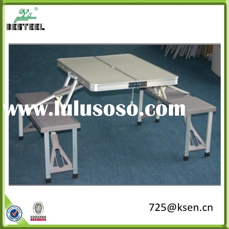 Portable Outdoor Aluminum Folding Picnic Table And Chairs
