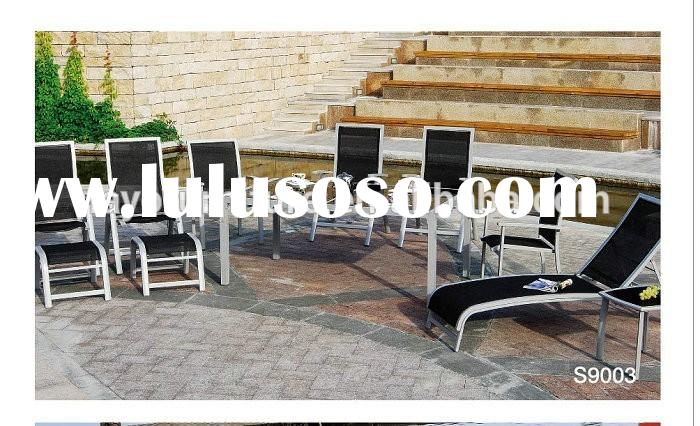 Sling Fabric Outdoor Furniture Tempered Glass outdoor lounge set garden treasures outdoor sling set