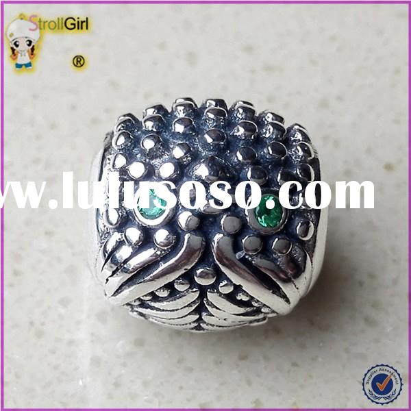 Sterling Silver Animal Bead Jewelry 925 Silver Loose Beads For Jewelry Making
