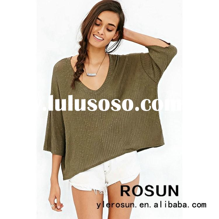 V neck pullover sweater, new styles autumn fashion sweater for women, plus size women clothing