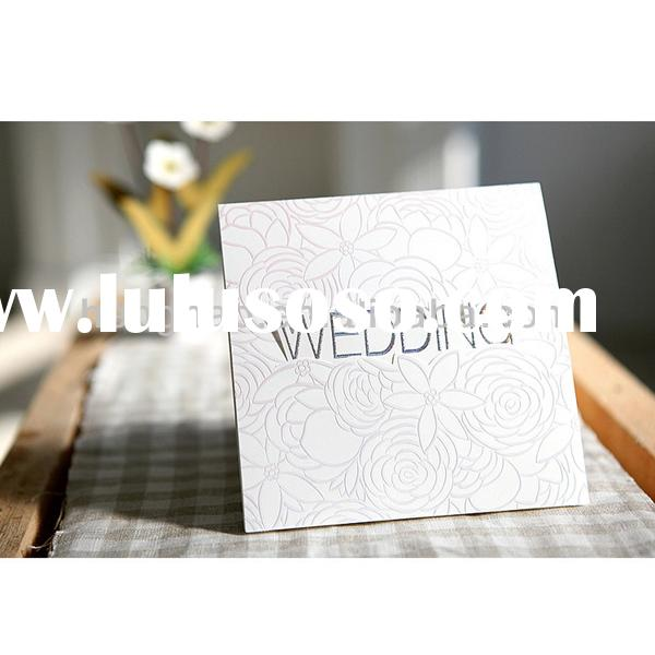 Wedding card royal elegant unique high end invitation card