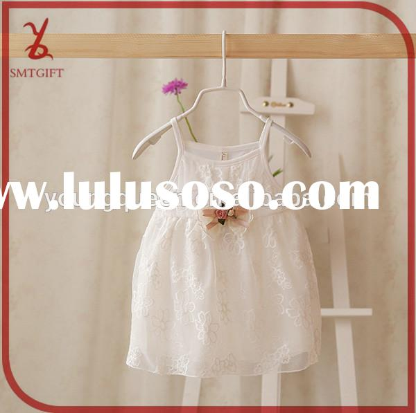 YY59 2015 summer baby girl white lace flower dress harness dress