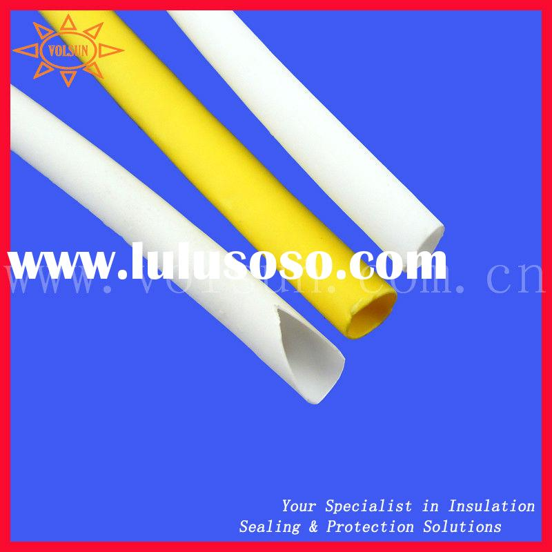 Yellow and White Single wall heat shrink tubing
