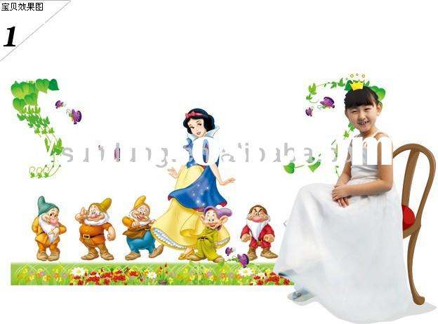 """Snow White and the Seven Dwarfs"" PVC Wall Stickers, Removable Wall Stickers 1/3"