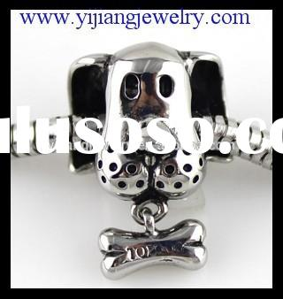 custom metal dog beads for jewelry making