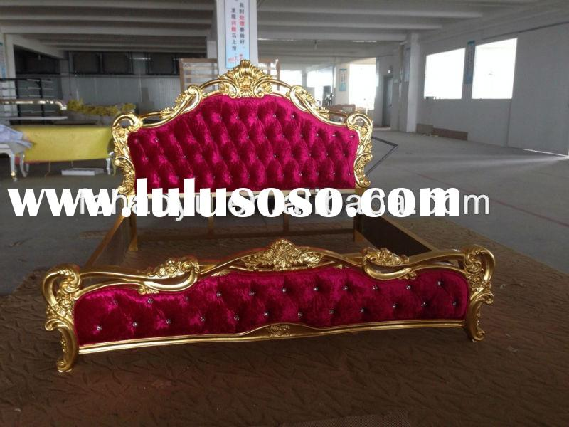 latest indian purple bed design, solid wooden double bed designs