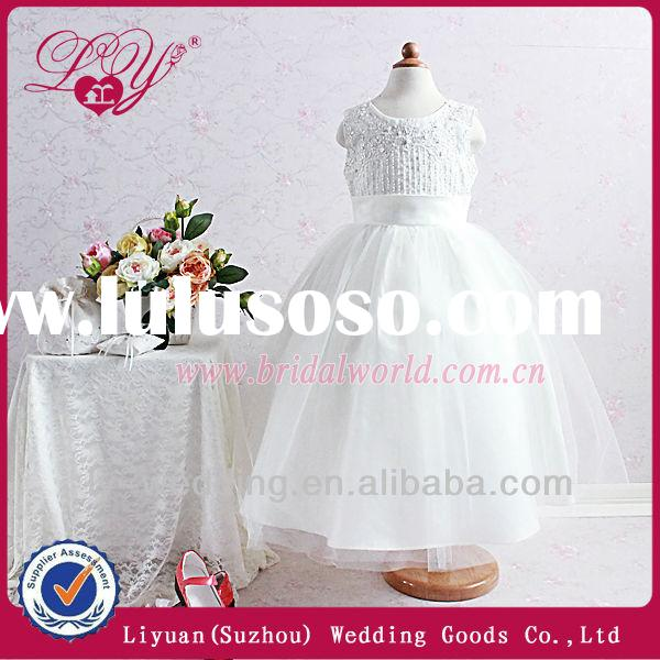 2014 fashional and new design very very cheap flower girl dresses