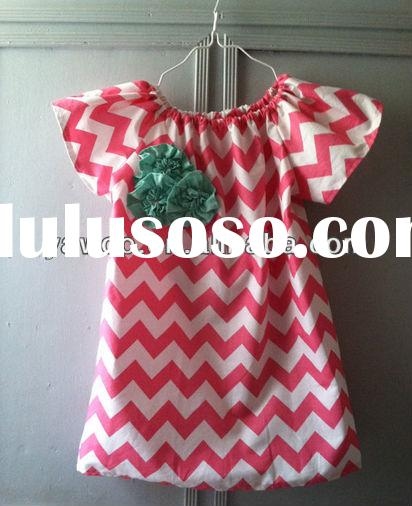 2015Baby Wholesale Cotton Fashion Flower Pattern Fabric Baby Girl Kids Chevron Knit Cotton Summer Ya