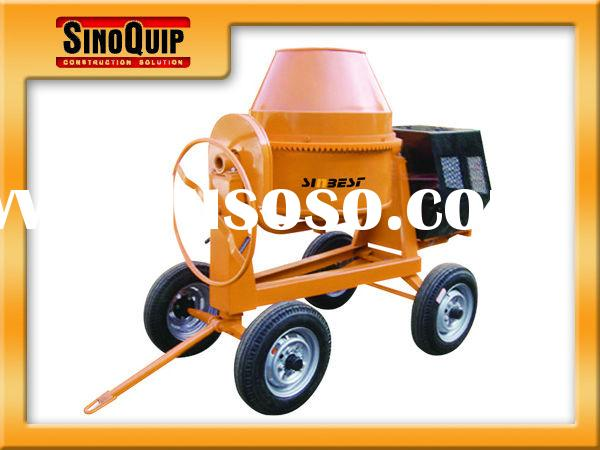 350L four-wheel portable electric/manual diesel engine powered concrete mixer