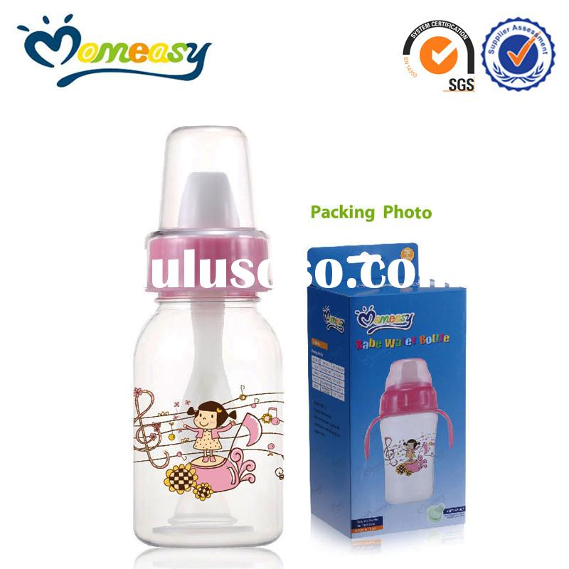 4oz standard PC blowing baby feeding bottle with spoon