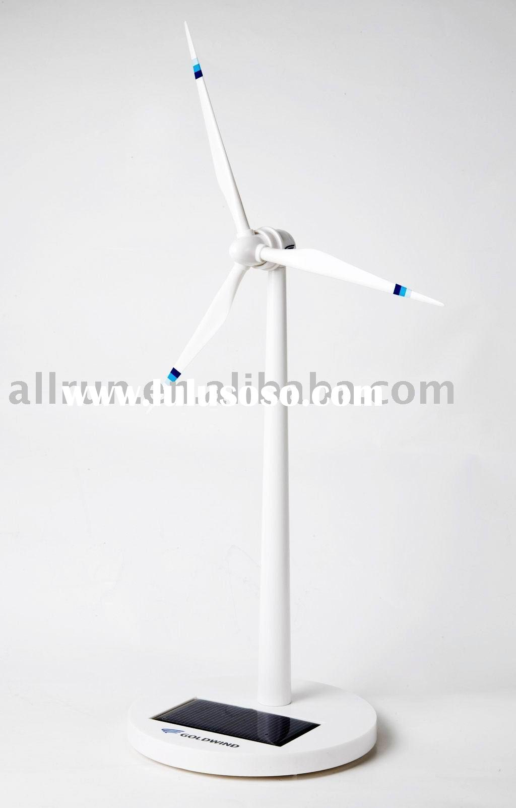 ABS MATERIAL solar garden windmill with three blades