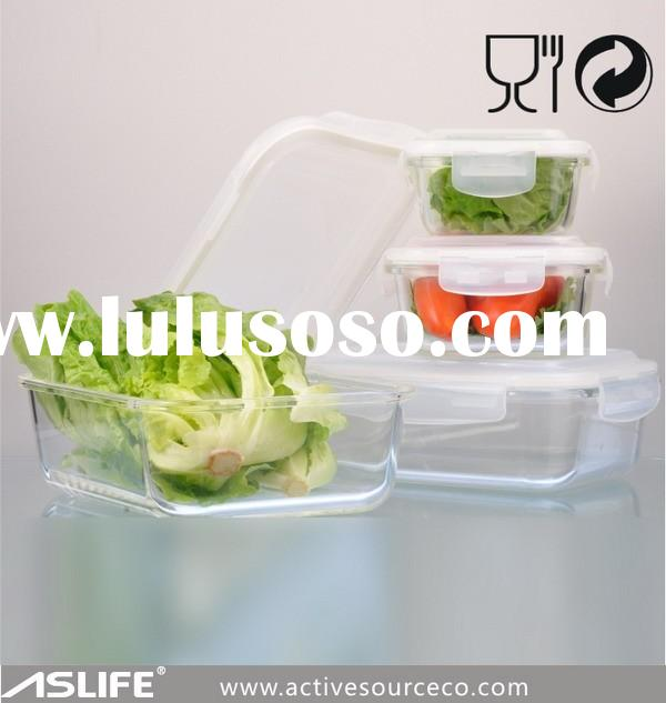 AS-CP1500-Borosilicate glass large airtight food storage containers