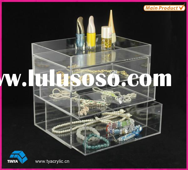 Acrylic Cosmetic Organizer Makeup Drawer Jewelry Storage