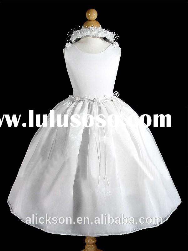 Ball Gown Scoop Neckline Very Very Cheap Flower Girl Dresses 2014