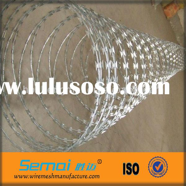 Best Price Double Loop Galvanized Razor Barbed Wire Fence (factory price)