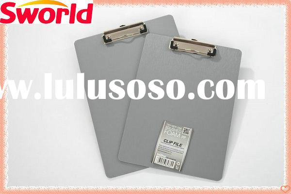 Brushed Silver Hard customized clipboards CF1070SR