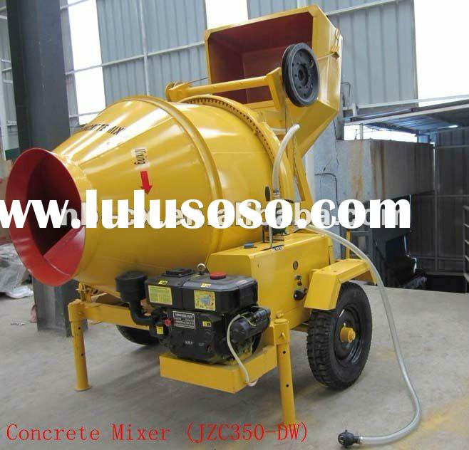 Concrete Mixer with Diesel Engine Power and Wire Rope Tipping Hopper