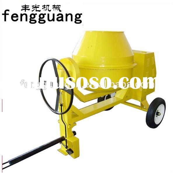 FA - 450L Manual electric start portable concrete cement mixer powered by 7HP diesel engine model 45