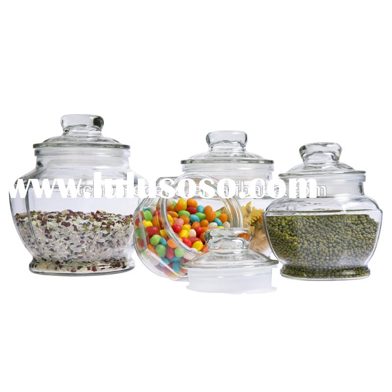 Large capacity glass storage containers