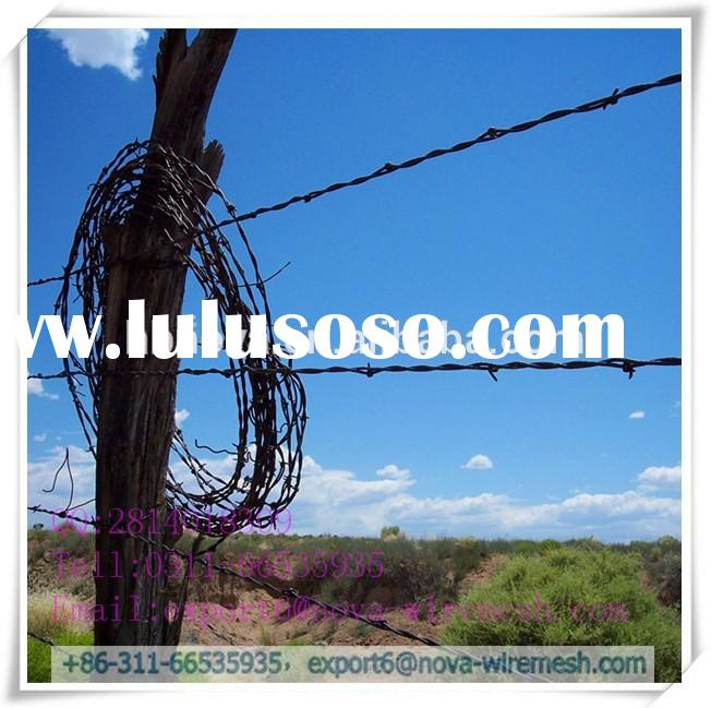 Low cost /Pvc coated razor barbed wire fence for railway