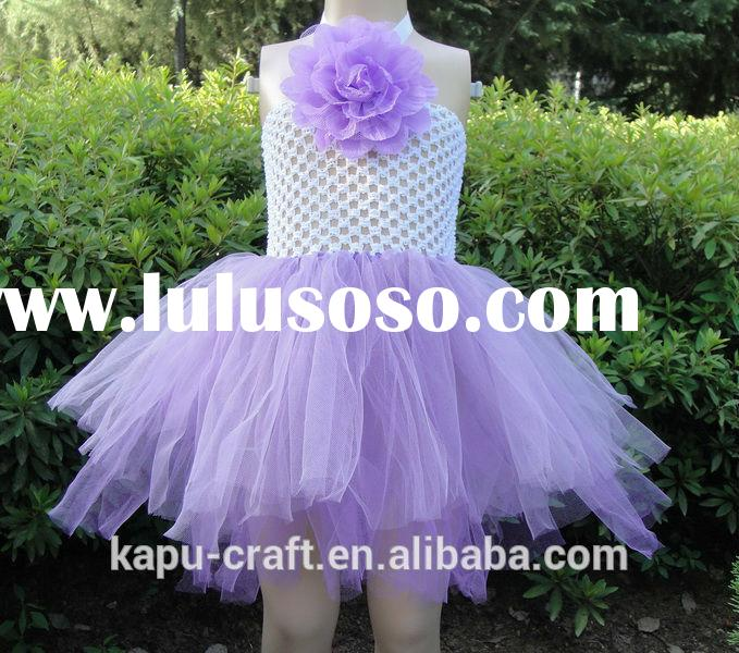 Newest crochet baby free patterns tutu dress NO MOQ