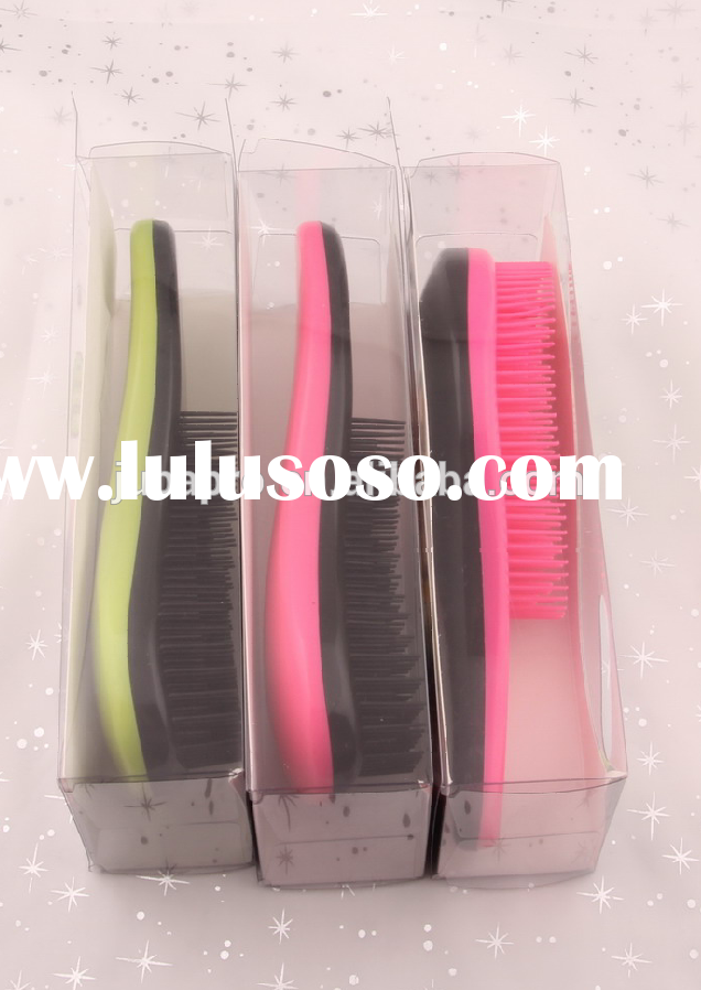 Professional salon hair brush high quality tangle brush plastic detangling hair brush
