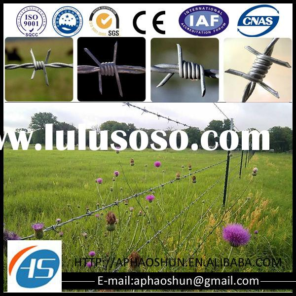 Stainless steel cheap barb wire fence cost