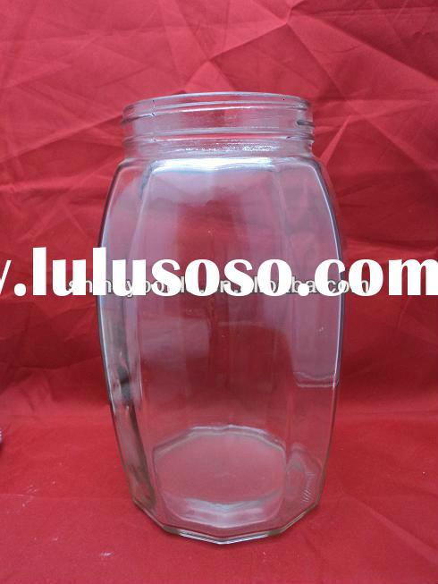 big round glass jar,big glass container,food storage glass jar