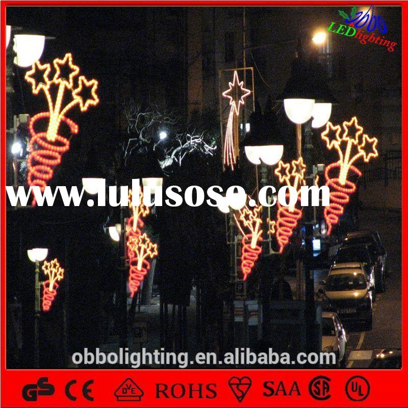 christmas street pole light High Efficiency IP65 outdoor street light fixtures Led Street Light
