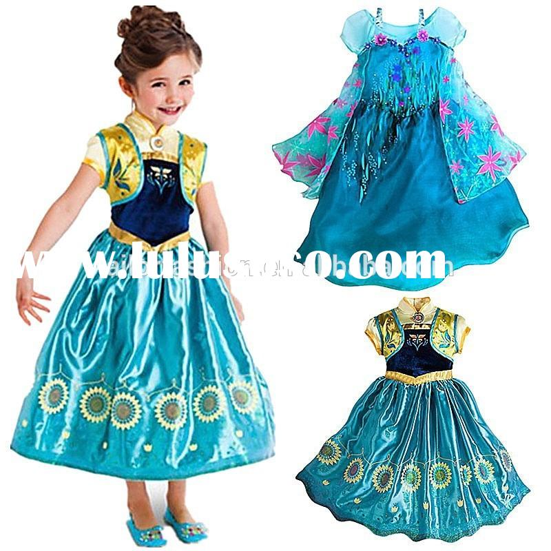 frozen Kids Baby Girls Dresses Princess for Kids Anna Elsa dress Cartoon Cosplay Girl Dresses Kids P