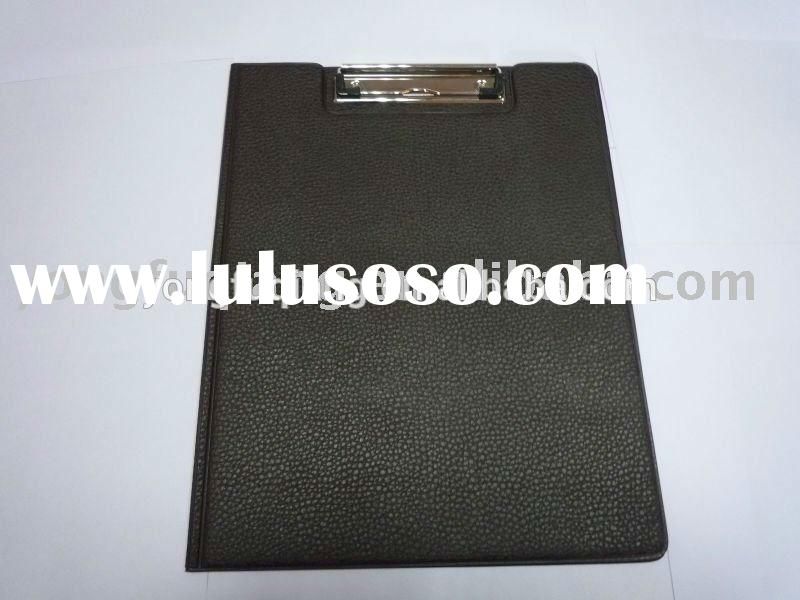 hard cover paper documentation file folder/clipboard/ ring folder