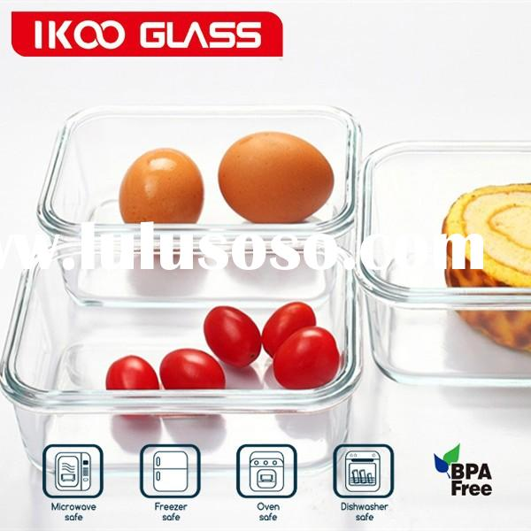 pyrex glass large storage containers/waterproof food storage containers