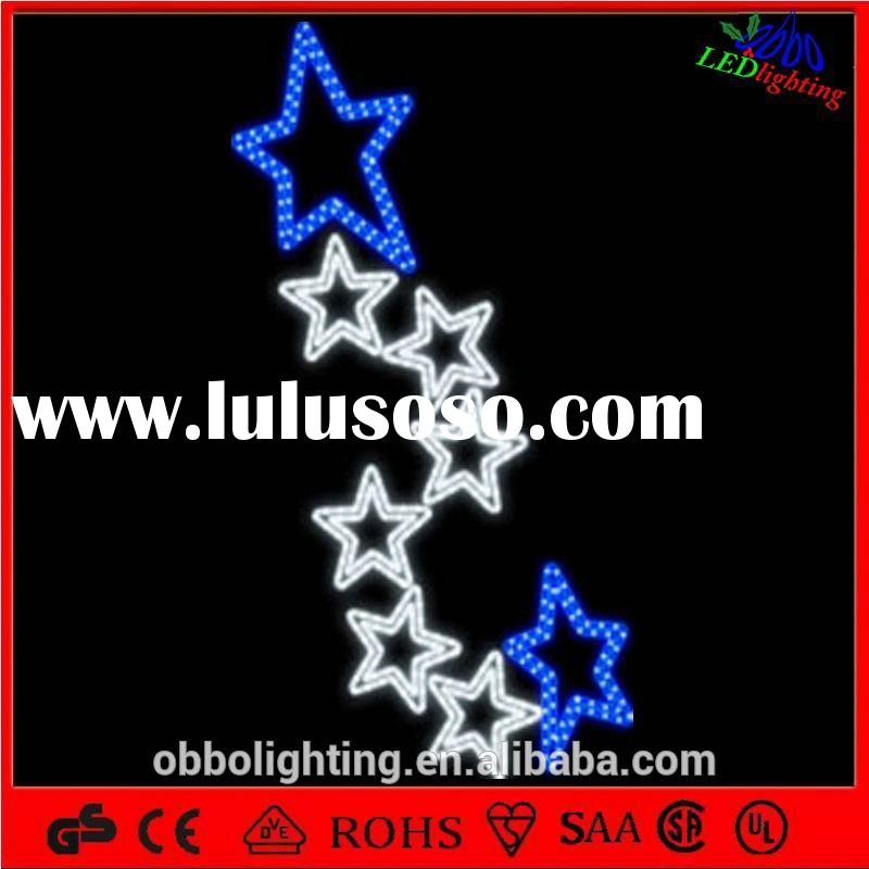 street pole decoration 3d led outdoor christmas Street Decoration string light Solar Street Lights