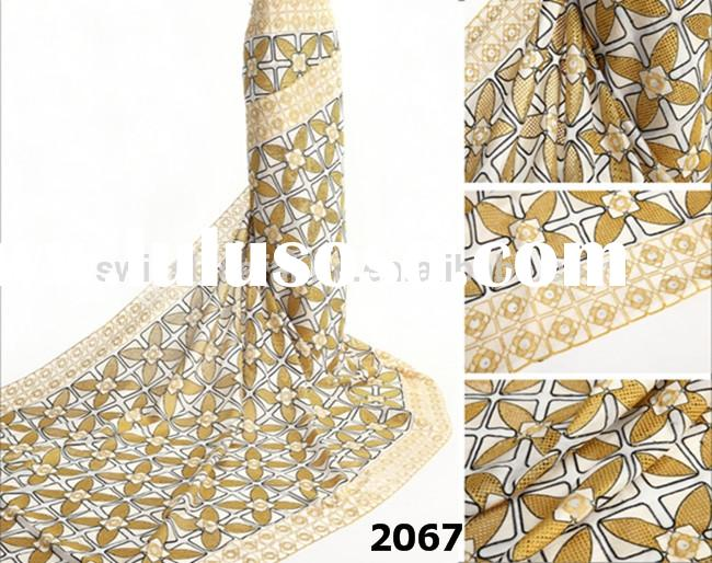 2067 beige.gold color New arrival swiss voile lace austria wedding lace buy african fabric online