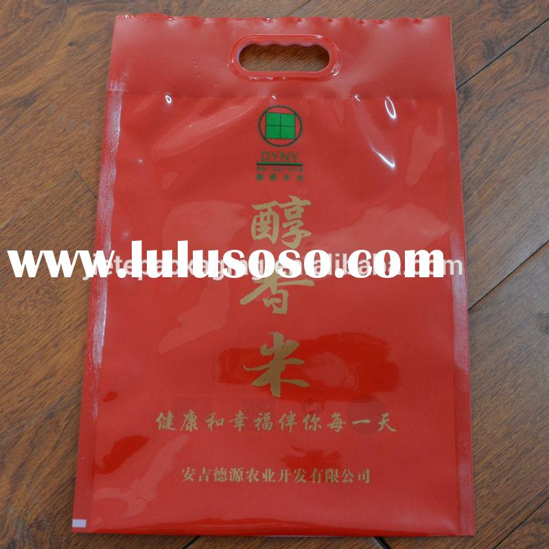 5kg Vacuum packing PE rice bag with plastic handle small pe plastic bag