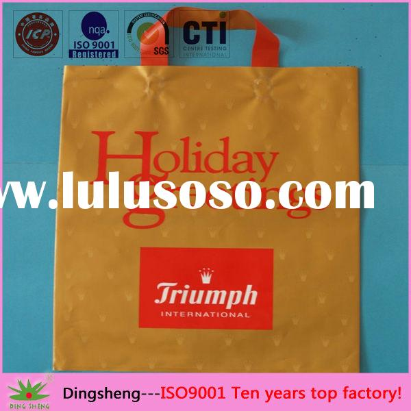 Cheap Twist Handle Plastic Bags with printed factory
