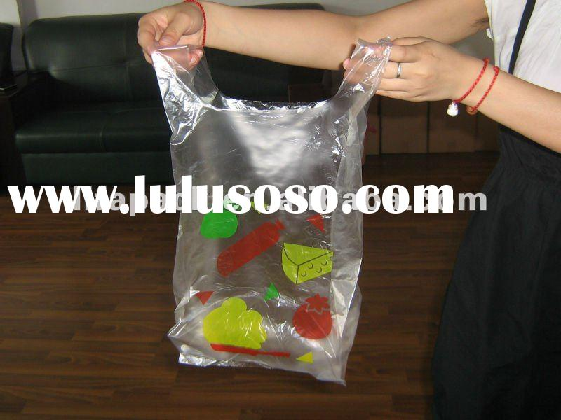 HDPE cheap clear plastic bag with handles