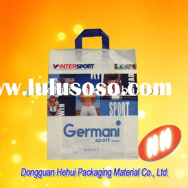 HDPE cheap plastic packaging bag with handle