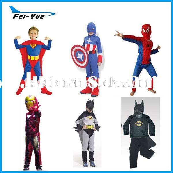 Halloween Polyester Superhero Costumes for boys