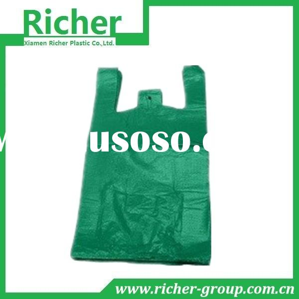 Hot Sale Small HDPE plastic bag with Vest Handle