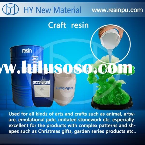 Liquid crystal clear unsaturated polyester resin for craft