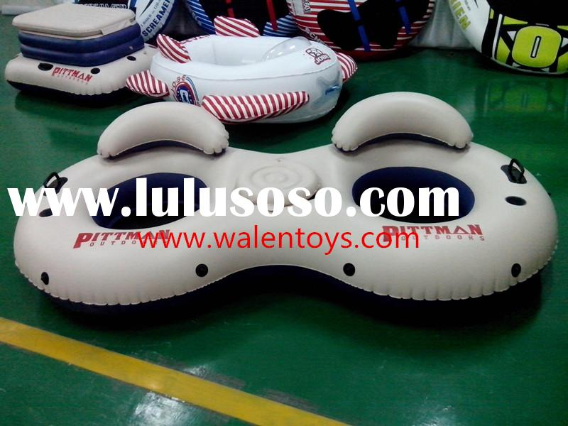 PVC Inflatable 2-Person River Tube With Cooler