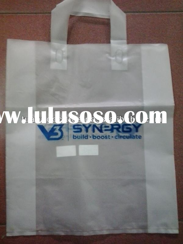 Packaging bag with handles/ Cheap shopping plastic bag from Vietnam