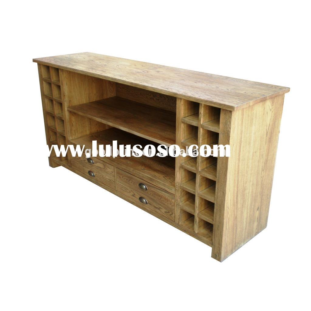 Sinocurio antique furniture solid oak wood antique style wooden sideboard