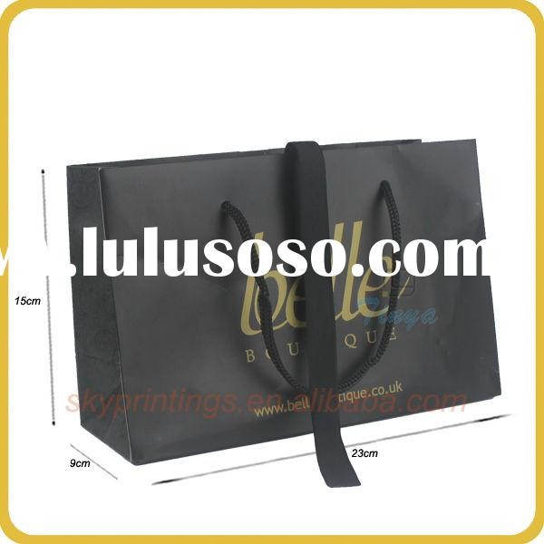Small size paper bag with plastic handle for men's underweaer packaging