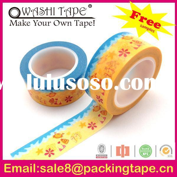 Top quality rice paper tape craft handmade for cards decoration